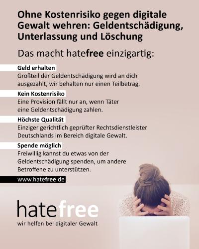 hatefree-wir helfen bei digitaler Gewalt
